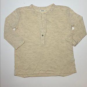Madewell heather beige 3/4 sleevs top